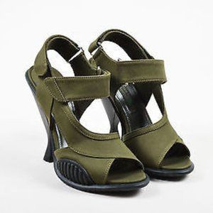 Prada Military Green High Heels - Size 35 (Size 5)